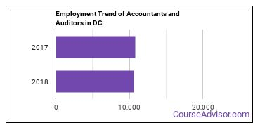 Accountants and Auditors in DC Employment Trend