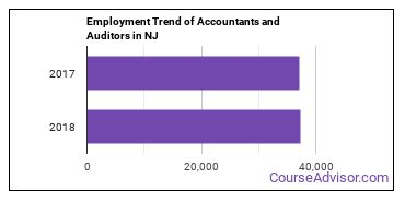 Accountants and Auditors in NJ Employment Trend