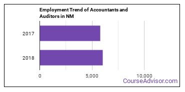 Accountants and Auditors in NM Employment Trend