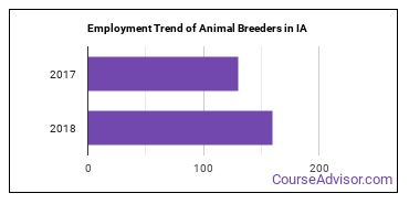 Animal Breeders in IA Employment Trend