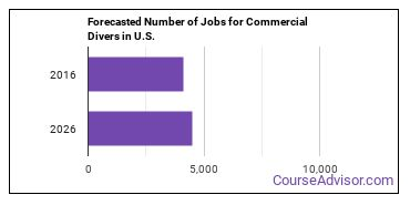 Forecasted Number of Jobs for Commercial Divers in U.S.