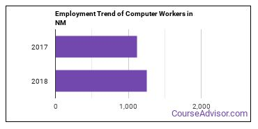 Computer Workers in NM Employment Trend