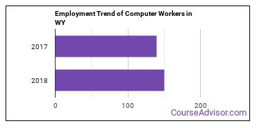 Computer Workers in WY Employment Trend