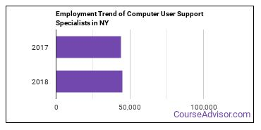 Computer User Support Specialists in NY Employment Trend