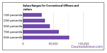Salary Ranges for Correctional Officers and Jailers