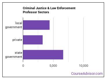 Criminal Justice & Law Enforcement Professor Sectors