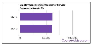 Customer Service Representatives in TN Employment Trend