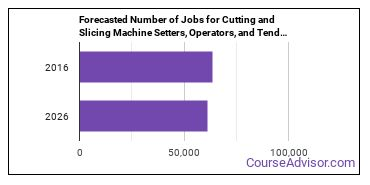 Forecasted Number of Jobs for Cutting and Slicing Machine Setters, Operators, and Tenders in U.S.