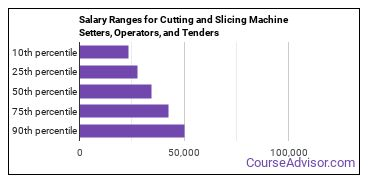 Salary Ranges for Cutting and Slicing Machine Setters, Operators, and Tenders