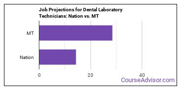 Job Projections for Dental Laboratory Technicians: Nation vs. MT