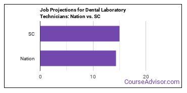 Job Projections for Dental Laboratory Technicians: Nation vs. SC
