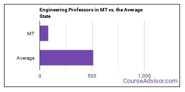 Engineering Professors in MT vs. the Average State