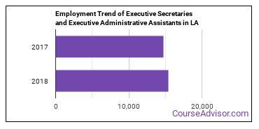 Executive Secretaries and Executive Administrative Assistants in LA Employment Trend