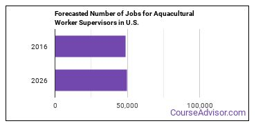 Forecasted Number of Jobs for Aquacultural Worker Supervisors in U.S.