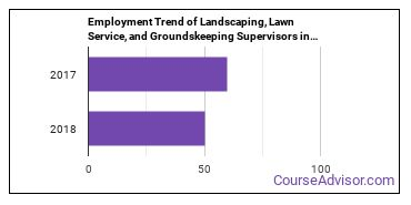 Landscaping, Lawn Service, and Groundskeeping Supervisors in DC Employment Trend