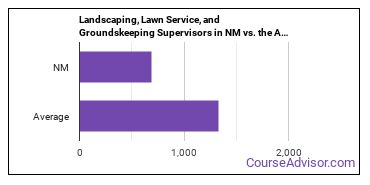 Landscaping, Lawn Service, and Groundskeeping Supervisors in NM vs. the Average State