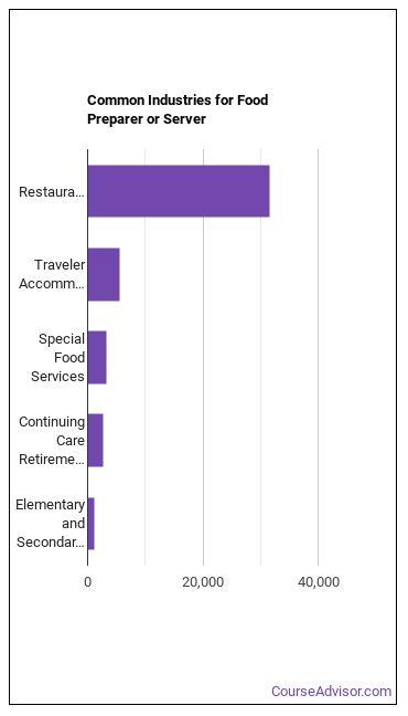 Food Preparer or Server Industries