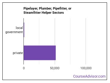 Pipelayer, Plumber, Pipefitter, or Steamfitter Helper Sectors
