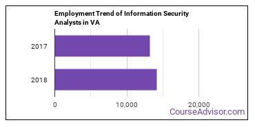 Information Security Analysts in VA Employment Trend