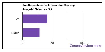 Job Projections for Information Security Analysts: Nation vs. VA