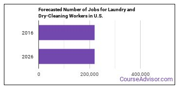 Forecasted Number of Jobs for Laundry and Dry-Cleaning Workers in U.S.