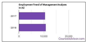 Management Analysts in AZ Employment Trend