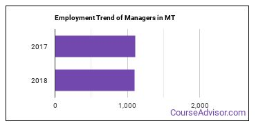 Managers in MT Employment Trend