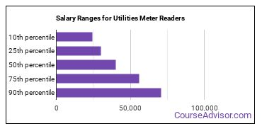 Salary Ranges for Utilities Meter Readers