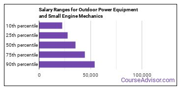 Salary Ranges for Outdoor Power Equipment and Small Engine Mechanics