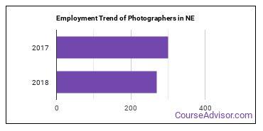 Photographers in NE Employment Trend