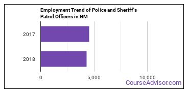 Police and Sheriff's Patrol Officers in NM Employment Trend