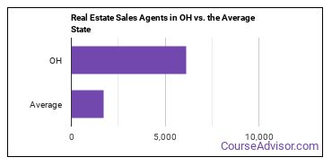Real Estate Sales Agents in OH vs. the Average State
