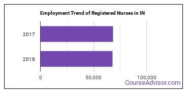 Registered Nurses in IN Employment Trend