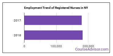 Registered Nurses in NY Employment Trend