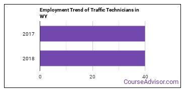 Traffic Technicians in WY Employment Trend