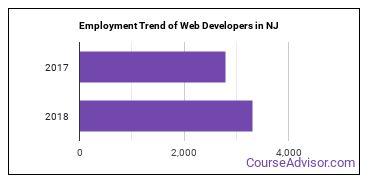 Web Developers in NJ Employment Trend