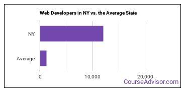 Web Developers in NY vs. the Average State
