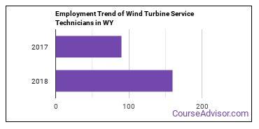 Wind Turbine Service Technicians in WY Employment Trend