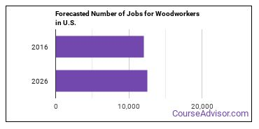 Forecasted Number of Jobs for Woodworkers in U.S.