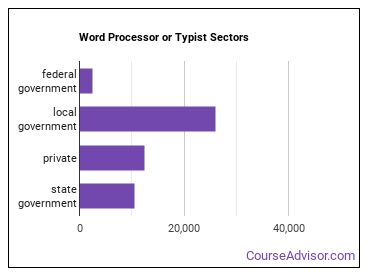 Word Processor or Typist Sectors