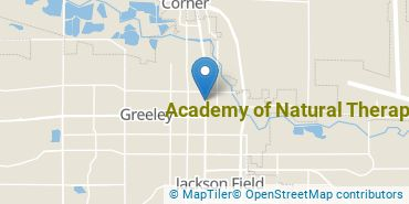 Location of Academy of Natural Therapy Inc