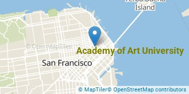 Location of Academy of Art University
