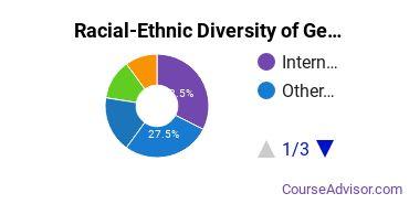 Racial-Ethnic Diversity of General Visual & Performing Arts Majors at Academy of Art University