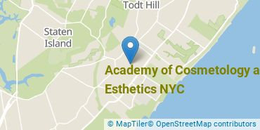 Location of Academy of Cosmetology and Esthetics NYC