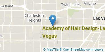 Location of Academy of Hair Design - Las Vegas