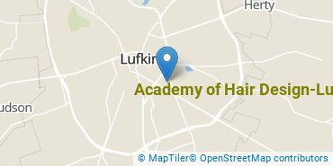 Location of Academy of Hair Design - Lufkin