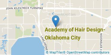 Location of Academy of Hair Design - Oklahoma City