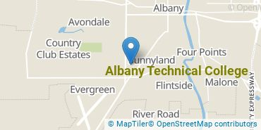 Location of Albany Technical College