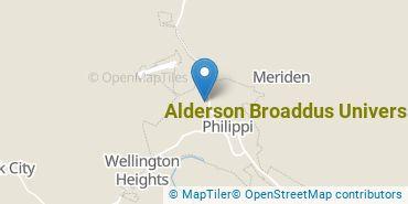 Location of Alderson Broaddus University