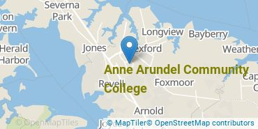 Location of Anne Arundel Community College